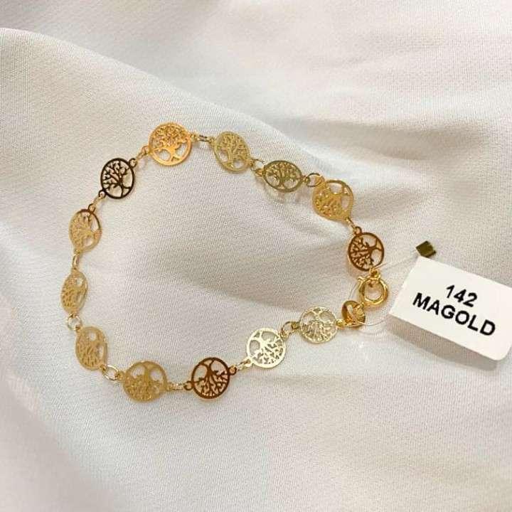 Pulsera bañada en oro MAGOLD - 0
