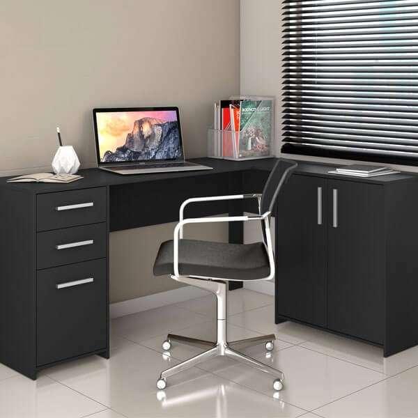 Escritorio angular Office Canto NT2005 Notal negro Abba - 4