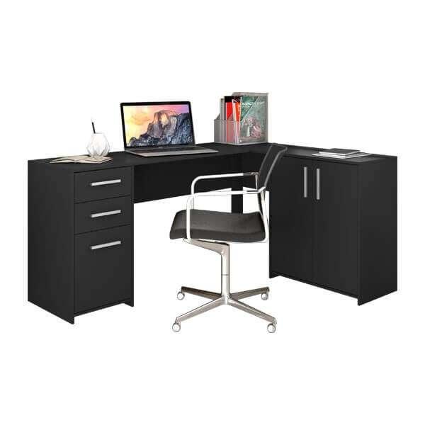 Escritorio angular Office Canto NT2005 Notavel negro Abba - 0