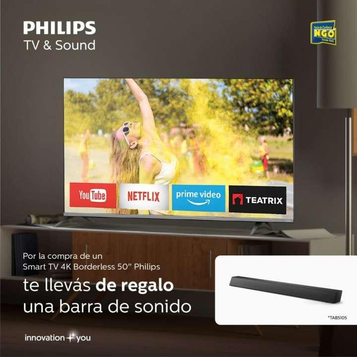 Smart TV Philips 4K UHD 50 pulgadas - 0