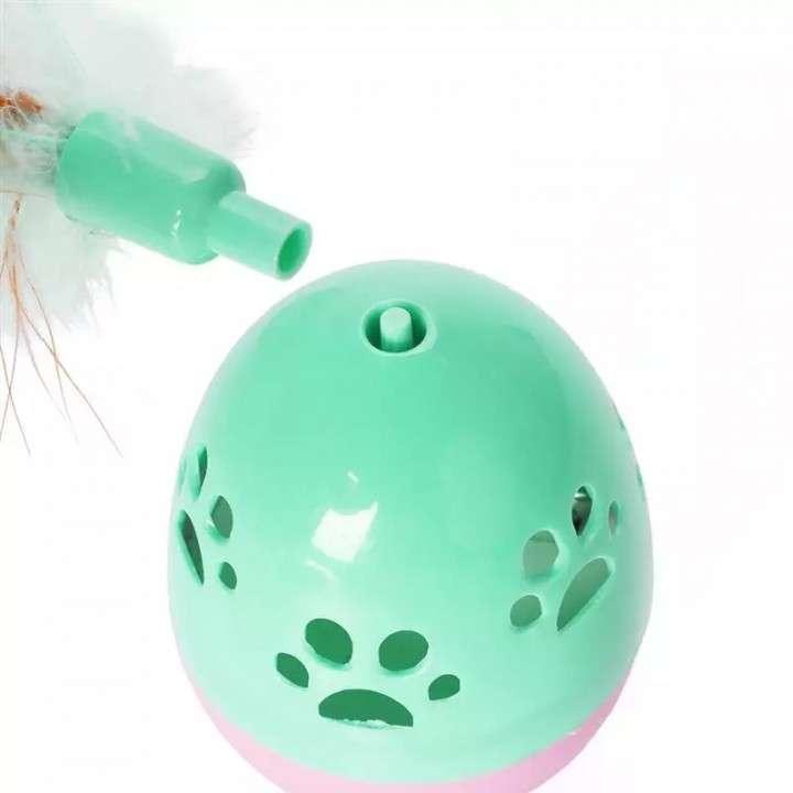 Juguete para gato huevo con cascabel - 1