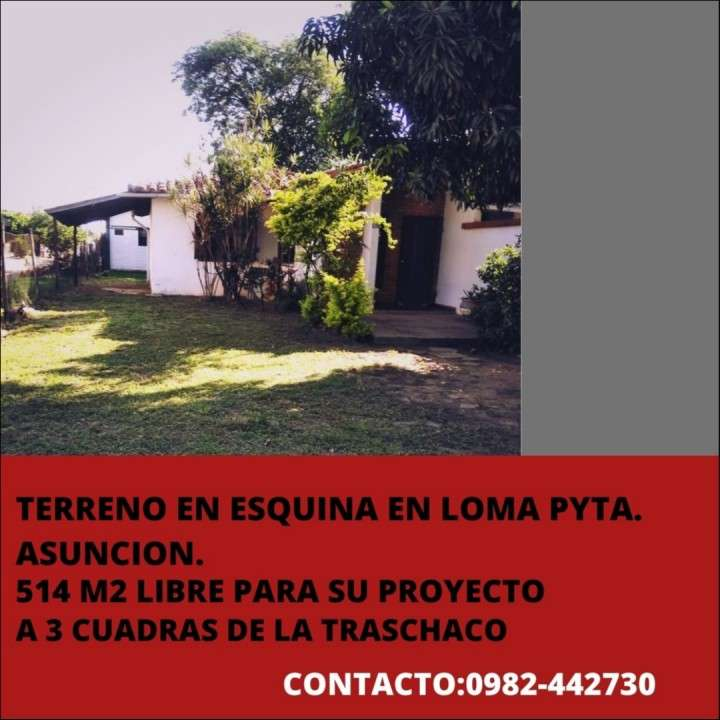 Terreno en esquina Loma Pytá - 0