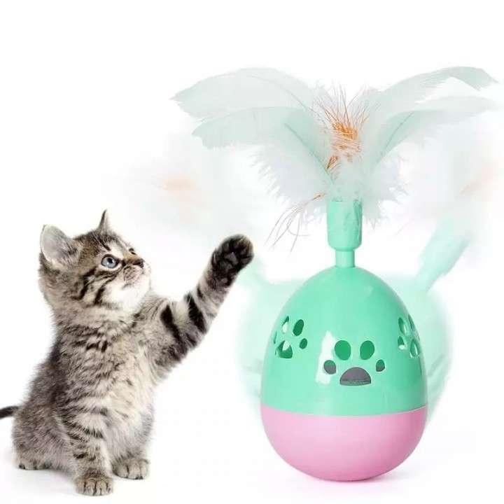 Juguete para gato huevo con cascabel - 0