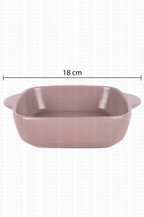 Bandeja cuadrada de cerámica Nathalia & Jorge 18x14x4cn