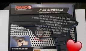Pistola Gamo p25 a gas co2