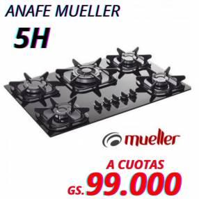 Anafe Mueller 5H negro a gas