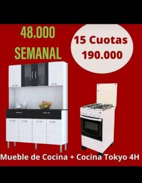 Cocina Tokyo 4H con mueble de cocina