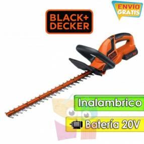 Podadora de cerca viva a batería 20V 55 cm Black+Decker - LHT2220