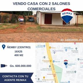 Casa y 2 locales comerciales en Ñemby