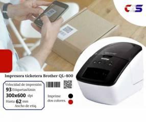 Impresora térmica para tickets Brother QL-800