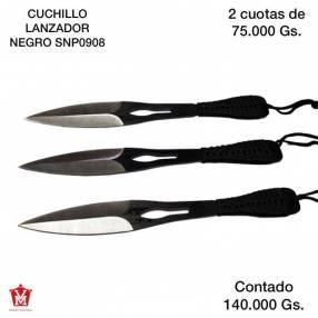 Cuchillo lanzador negro