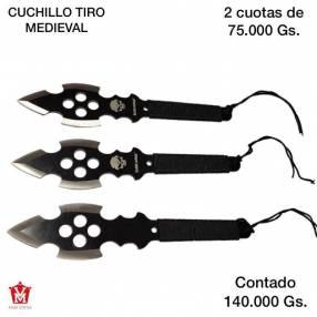 Cuchillo de tiro medieval