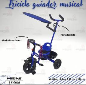 Triciclo musical con luces