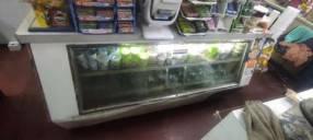 Refrigerador horizontal con exhibidor