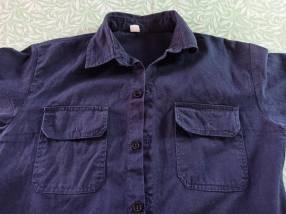 Camisa táctica militar azul oscuro tamaño M