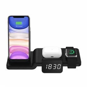 Cargador wireless 4life con reloj 4en1 abk-c100