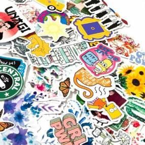 Sticker adhesivo mediano de 5 unidades