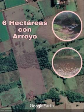 Terreno de 6 hectáreas con arroyo