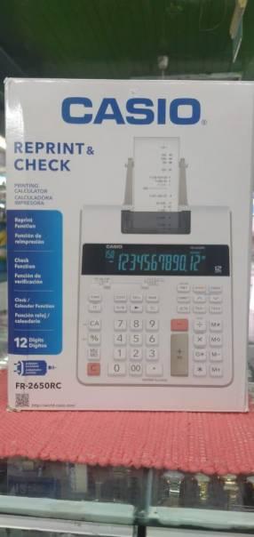 Calculadora Casio FR2650RC con impresora y reprint