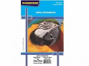 Papel foto masterprint a4 180gramos c/ 50 hojas