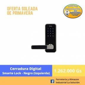Cerradura digital Smarte Lock negro izquierdo
