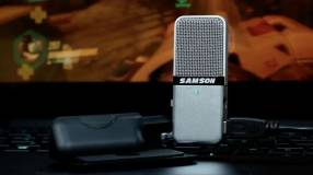 Micrófono USB condensador portátil SAMSON Go (usado)