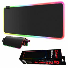 Mouse pad gamer con luz rgb 7 colores impermeable