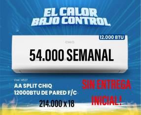 Aire acondicionado Chiq de 12.000 btu