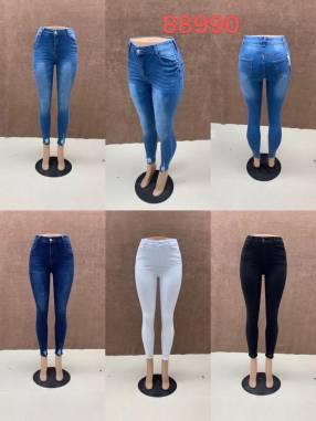 Jeans elastizado achupinado para dama NOURA88990