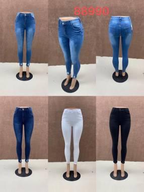 Jeans elastizado achupinado para dama