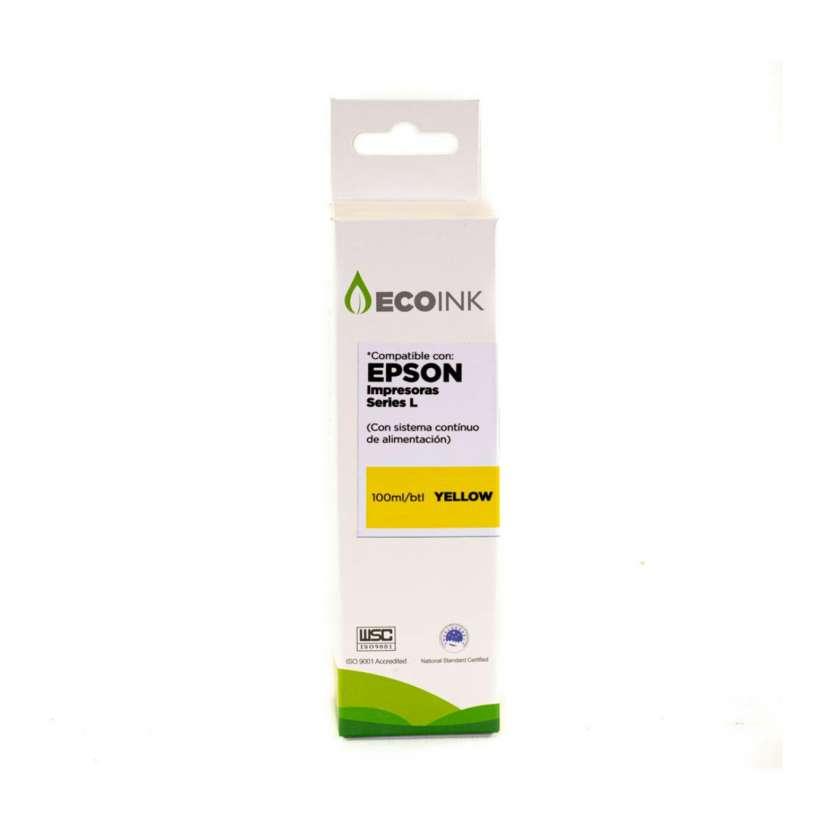 Tinta compatible Ecoink 100ml para Epson serie L amarillo - 0