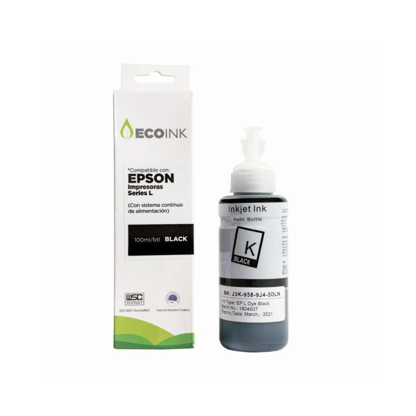 Tinta compatible Ecoink 100ml para Epson serie L negro - 0