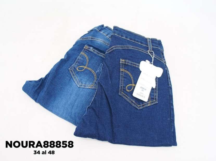Jeans con roturas achupinado para dama NOURA88858 - 1