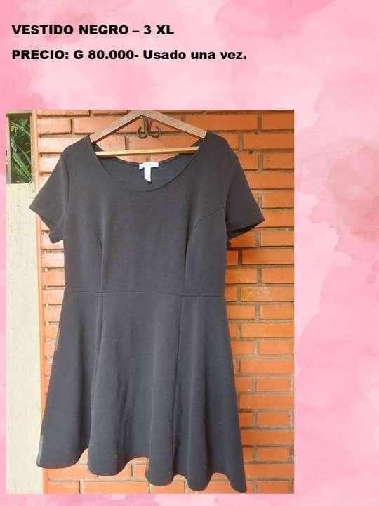 Vestido negro 3XL - 0