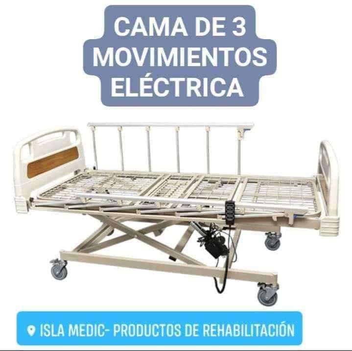 Cama hospitalaria de tres movimientos eléctrica - 0