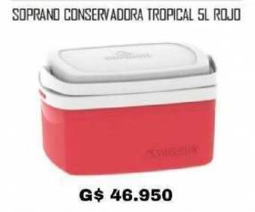 Conservadora Soprano Tropical 5 litros rojo