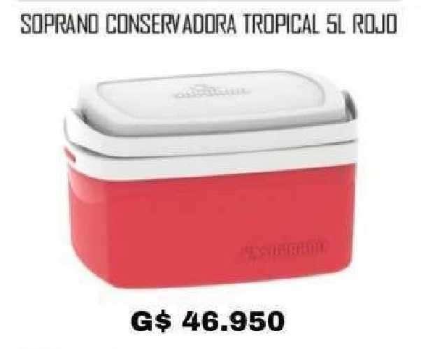 Conservadora Soprano Tropical 5 litros rojo - 0