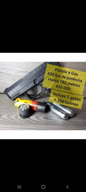 Pistola a gas 430fps