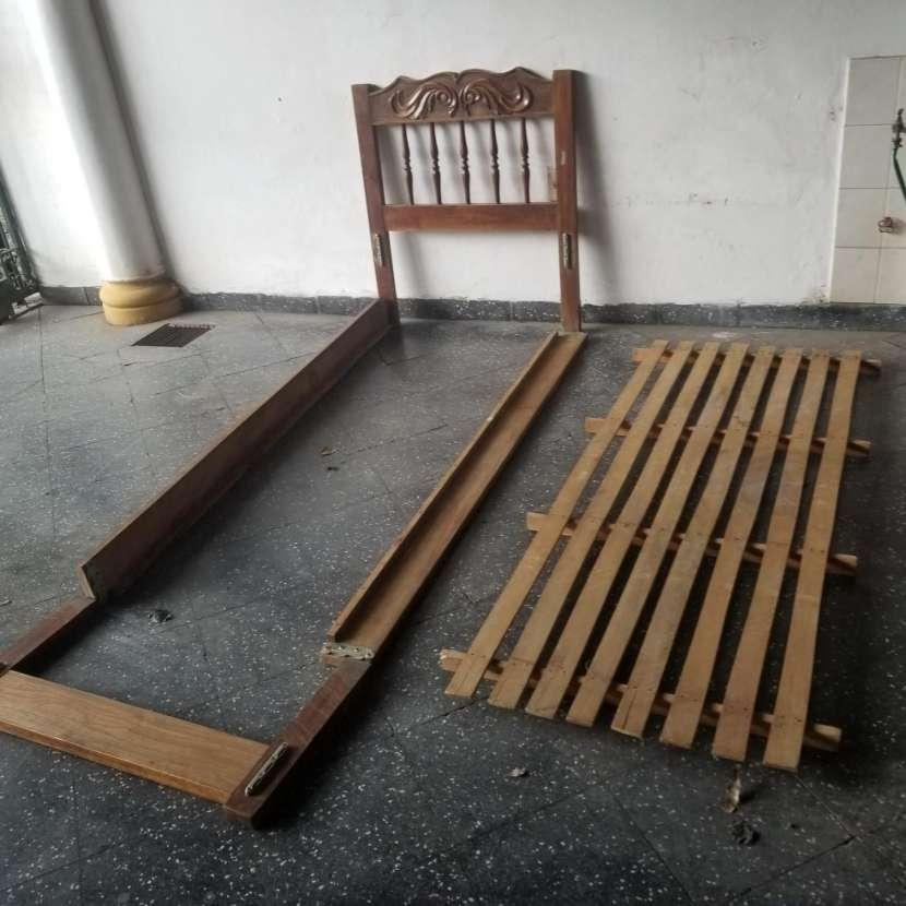 Cama individual madera maciza - 1
