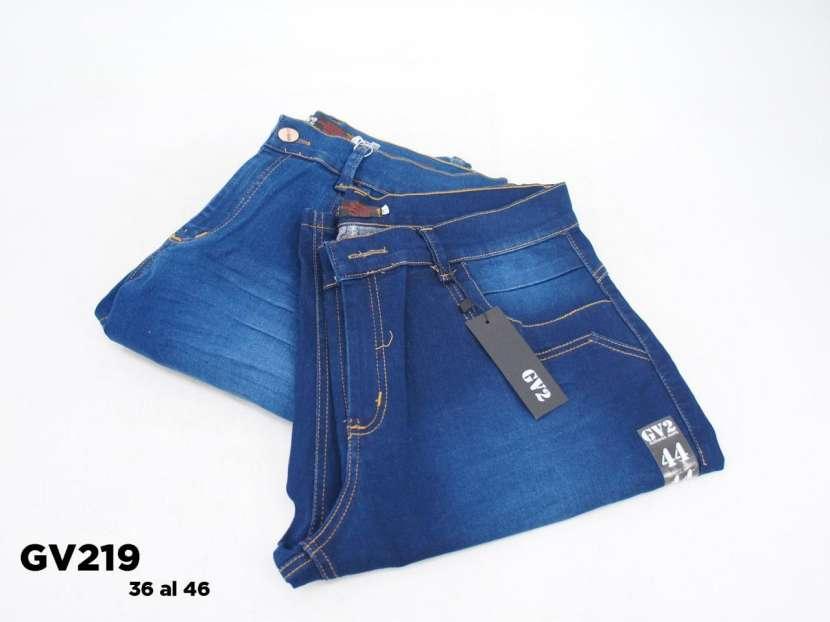 Bermuda de jeans elastizado para caballero - 1