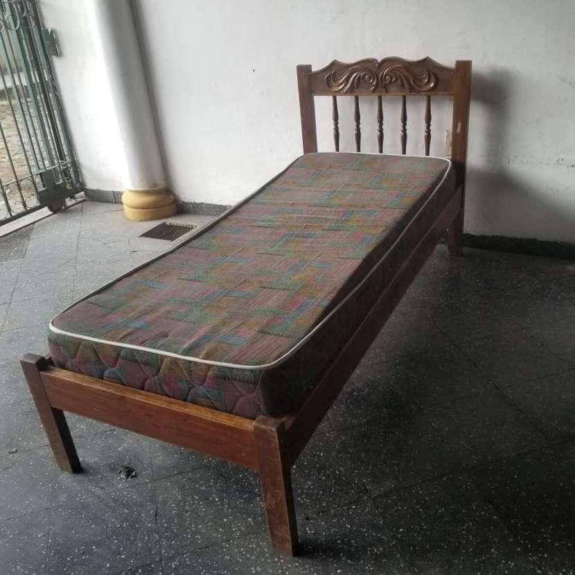 Cama individual madera maciza - 2