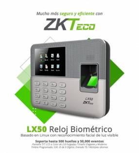 Reloj biométrico marcador por huella y código ZKTeco (LX50)