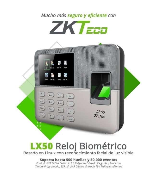 Reloj biométrico marcador por huella y código ZKTeco (LX50) - 0