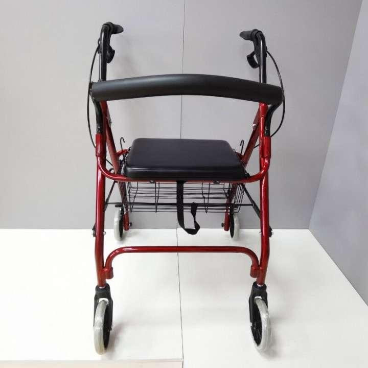 Andador con ruedas frenos y canasto - 1