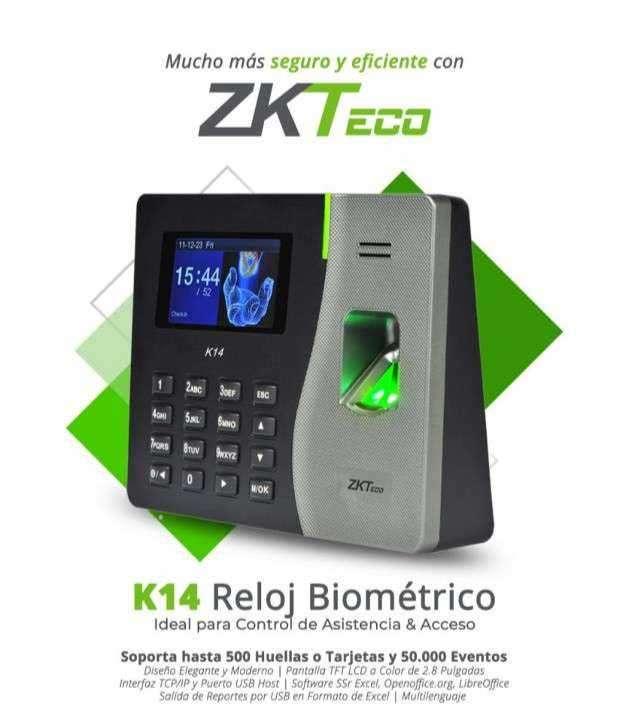 Reloj Biométrico Marcador ZKTeco K14 - 0