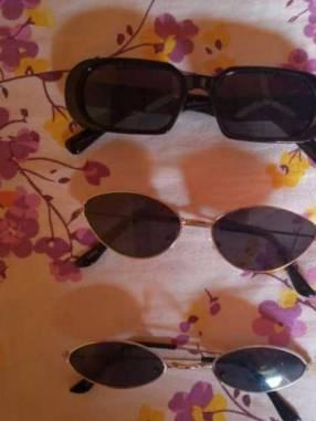 Lentes de sol vintage negros