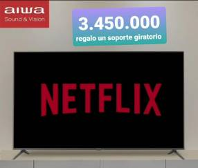 Smart TV Aiwa con soporte giratorio de regalo