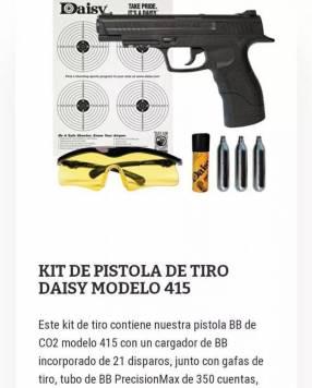 Pistola de tiro Daisy modelo 415
