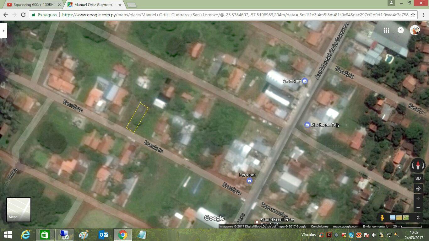 Terreno en San Lorenzo 12x30