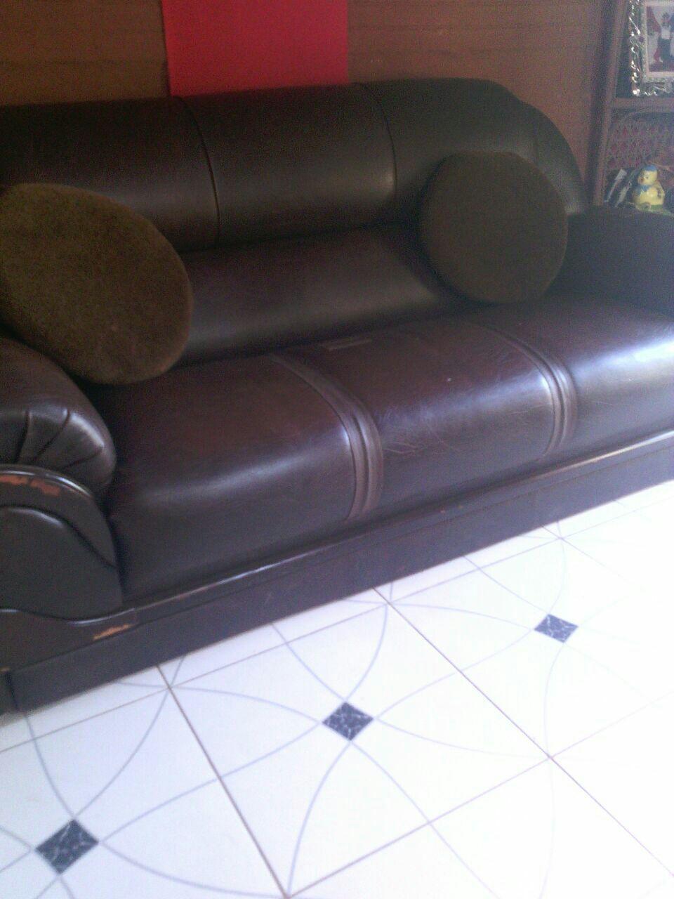 Juego de sofá de cuero